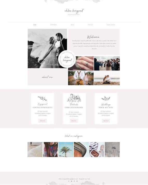 Wix Website Template For Photography Photographer Portfolio