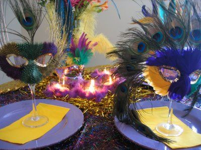 mardi gras centerpiece ideas | mardi gras table