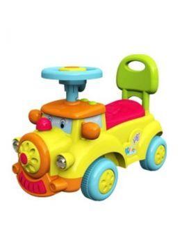 Detské Jezdítko so zvukom Baby Mix Happy Train žlté žltá