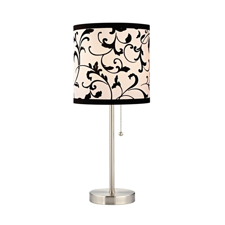Design Classics Pauz Table Lamp with Black and White Lamp Shade 1900-09  SH9513