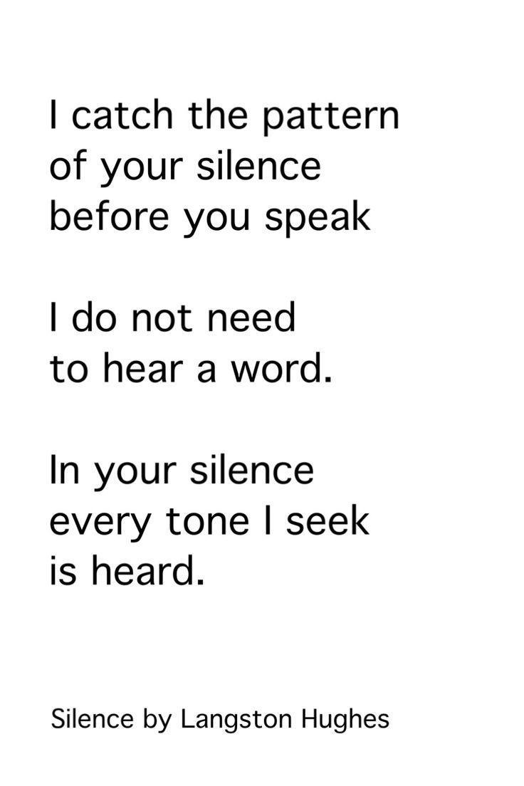 Silence by Langston Hughes