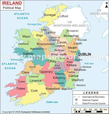 Les 25 meilleures ides de la catgorie Irlanda mapa sur Pinterest