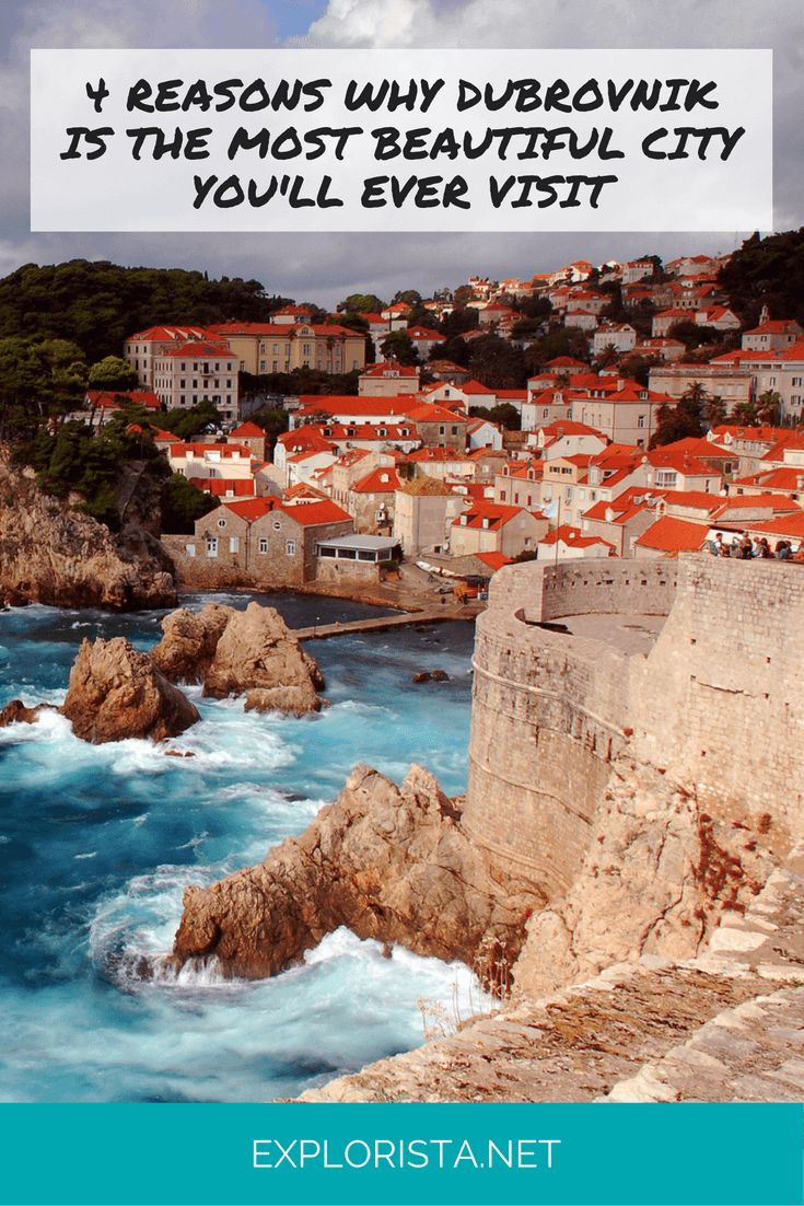 4 reasons Dubrovnik is the most BEAUTIFUL city you'll ever visit! Travel tips and inspiration via Explorista