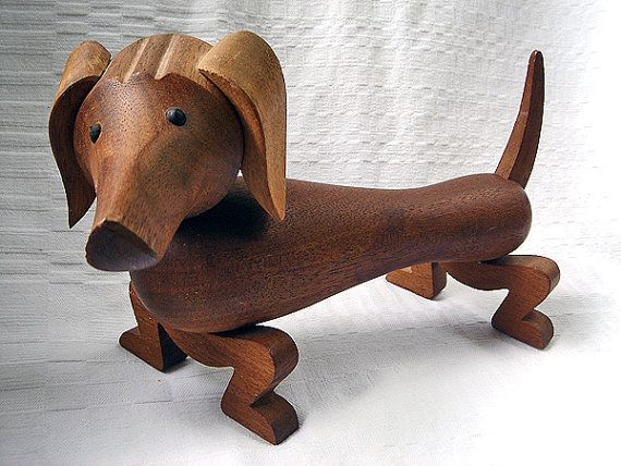 Vintage Kay Bojesen Wooden Dachshund with Movable Limbs