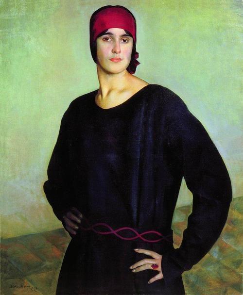 Boris Kustodiev, 'Portrait of T. N. Chizhova', 1924