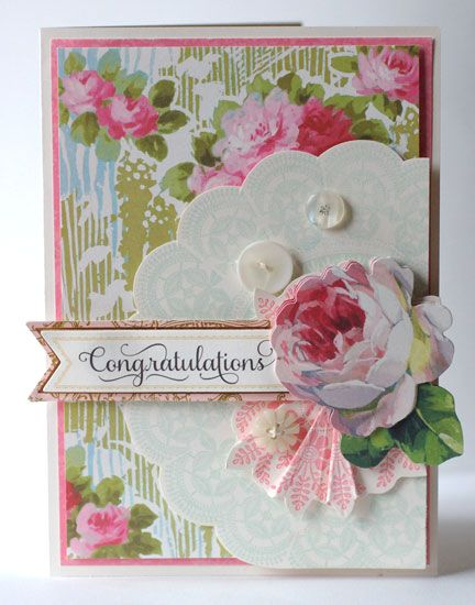 Gorgeous designs with this Doily Stamp Kit by© Anna Griffin, Inc.