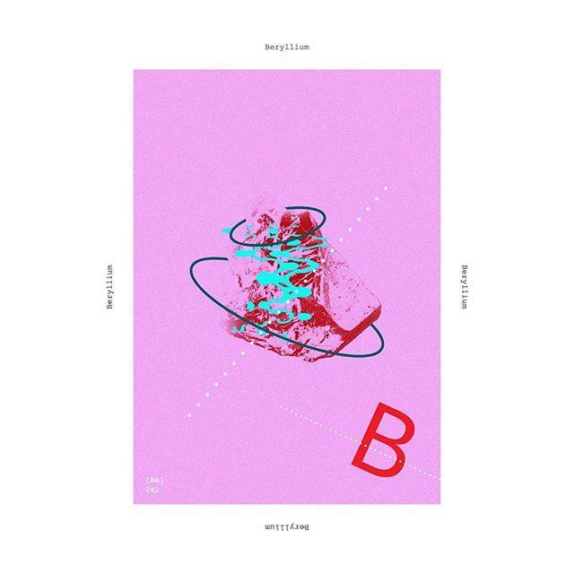 Beryllium #poster #posterdesign #metal #chemicalelements #graphicdesign #beryllium