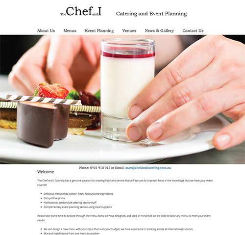 Chef and I Catering Camden Website design by Coffs Web Studio