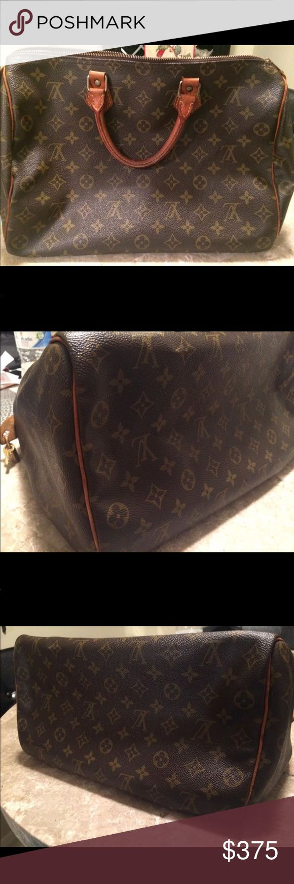 Louis Vuitton Speedy 35 LV Speedy 35. Used condition. No piping is showing. No rips or tears. Zips perfectly fine. Code: VI 0992 with Lock and key 🔐 Louis Vuitton Bags