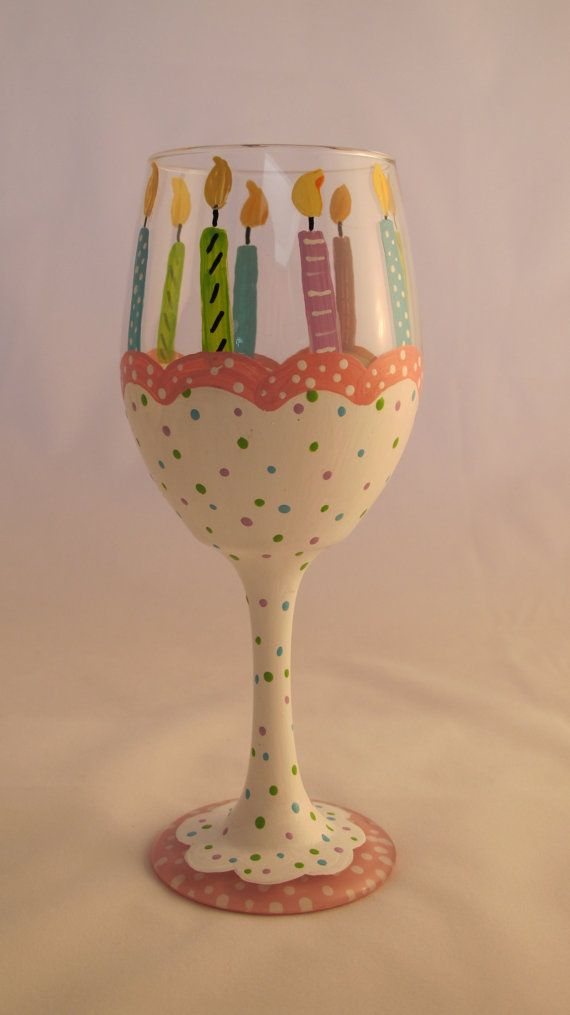 25 best ideas about birthday wine glasses on pinterest for Diy painted wine glasses