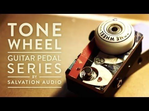 ToneWheel Boost by Salvation Audio (www.salvationaudi...) made of skateboard parts. Users: Smashing Pumpkins, Guns 'N Roses, The Dead Daisises etc... #SalvationToneWheel #ToneWheel #Booster #SalvationMods #Skateboard #Telecaster #GuitarPedal #recycled