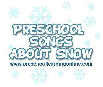 Preschool songs for kids about snow and other circle songs about the weather for kids.