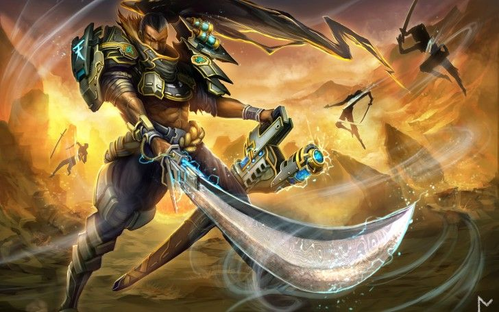 League of Legends Yasuo Windthrift Art High Resolution Gevurah_studios 4096×2560