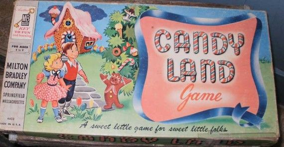 CANDYLAND Game 1949 original Candy Land Board Game by oldandwise