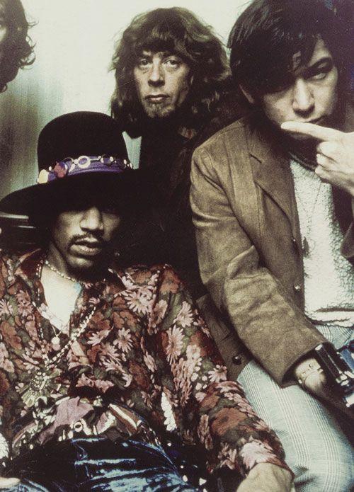 Jimi Hendrix, John Mayall et Eric Burdon