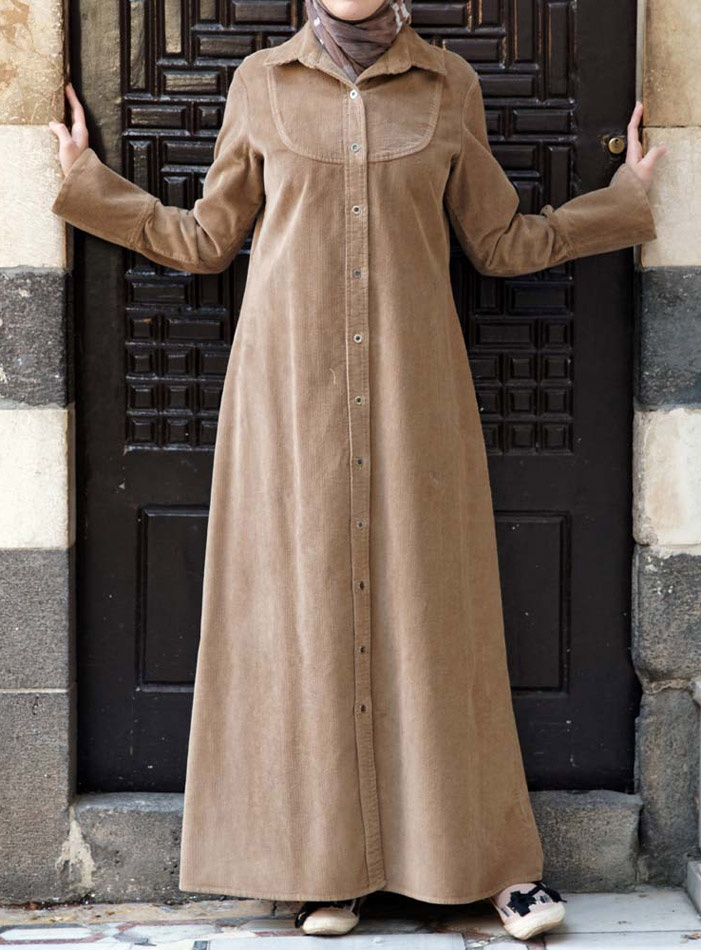 Corduroy Shirtdress Jilbab