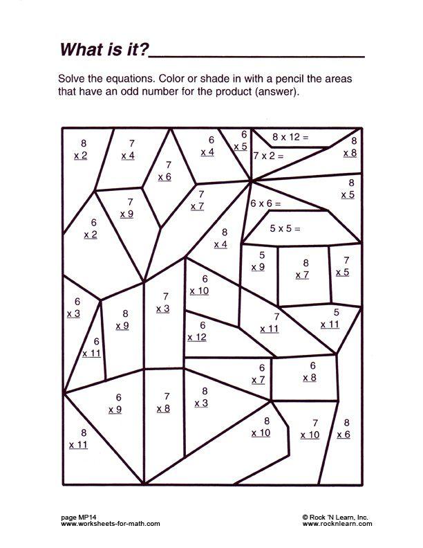 Math Is Fun Worksheet Geometry Fun Math Worksheets Middle School Math Worksheets Fun Worksheets For Kids