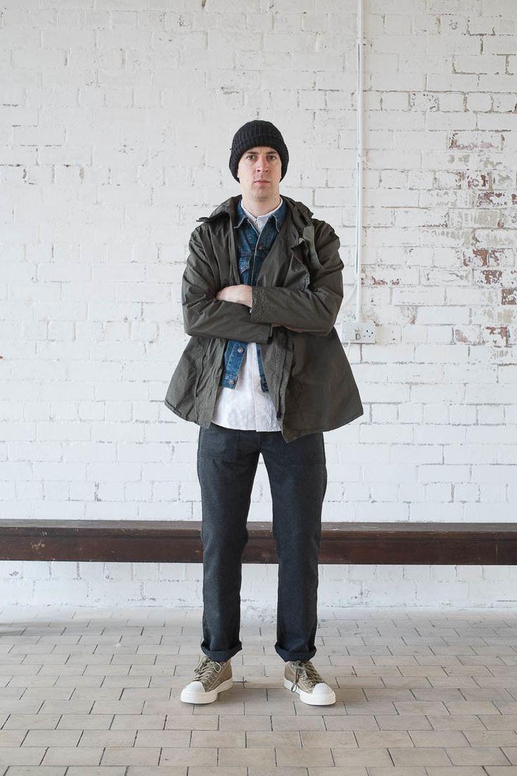 olive typewriter cloth zip up jacket by orslow the. Black Bedroom Furniture Sets. Home Design Ideas