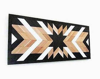 Reclaimed Wood Wall , Geometric Wood Art, Western Wall Art, Southwestern decor, Navajo Art, Star Wood, Quilt Pattern Wood, Southwest Decor