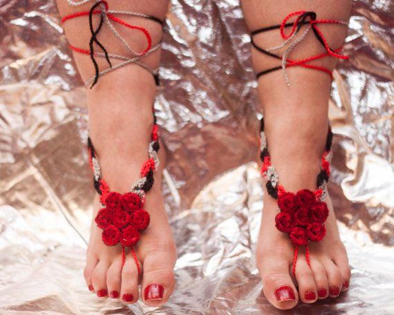 Crochet barefoot sandals barefoot sandles nude shoes foot от GGUA