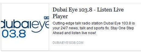 Listen to Dr. Amer discussing business and life in UAE for the last 10 years on (DUBAI EYE 103.8)  Today December 20th at 11AM  ‪#‎theDentalSPA‬ ‪#‎DubaiEye‬ ‪#‎Dubai‬ ‪#‎DrAmer‬