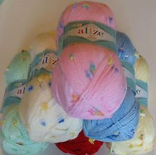 ALIZE BABY FLOWER a GORGEOUS KNITTING & CROCHET YARN BEST PRICE ON EBAY!! 100g