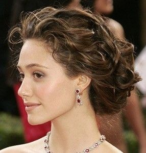 Surprising 17 Best Ideas About Curly Hair Updo On Pinterest Chignon Updo Hairstyles For Women Draintrainus