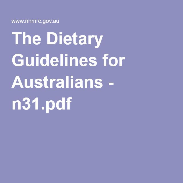 The Dietary Guidelines for Australians - n31.pdf