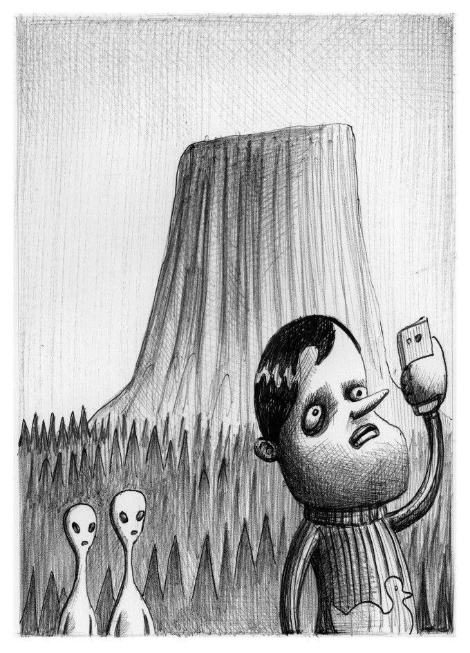 'The Selfie'. Illustration by Chris Harrendence