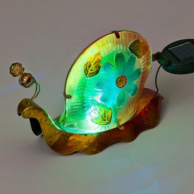Transcontinental Outdoor Color Changing LED Snail Garden Statue - GL00538