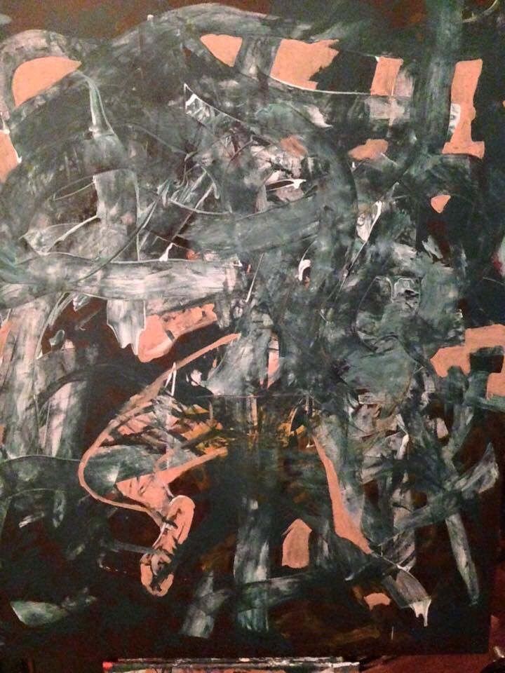 """ Untitled "" Acrylic on canvas 120 x 100 cm"