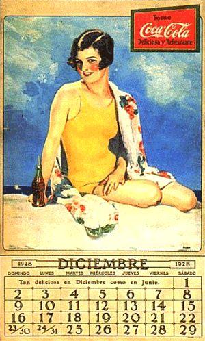 December 1928 Calendar girl
