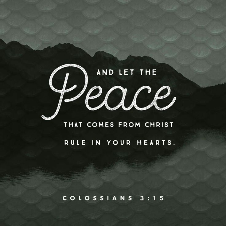 And let the peace of Christ rule in your hearts, to which indeed you were called in one body. And be thankful. Colossians 3:15 ESV http://bible.com/59/col.3.15.ESV