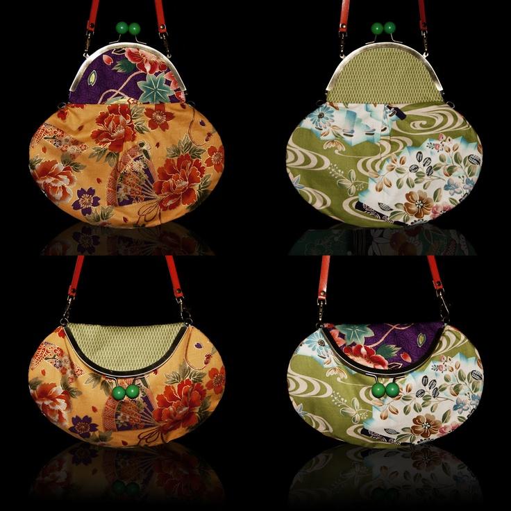 """Modelo FOUR YOU de IRUI.  Un solo bolso, cuatro """"looks"""" diferentes.  Telas japonesas y 100% handmade."""