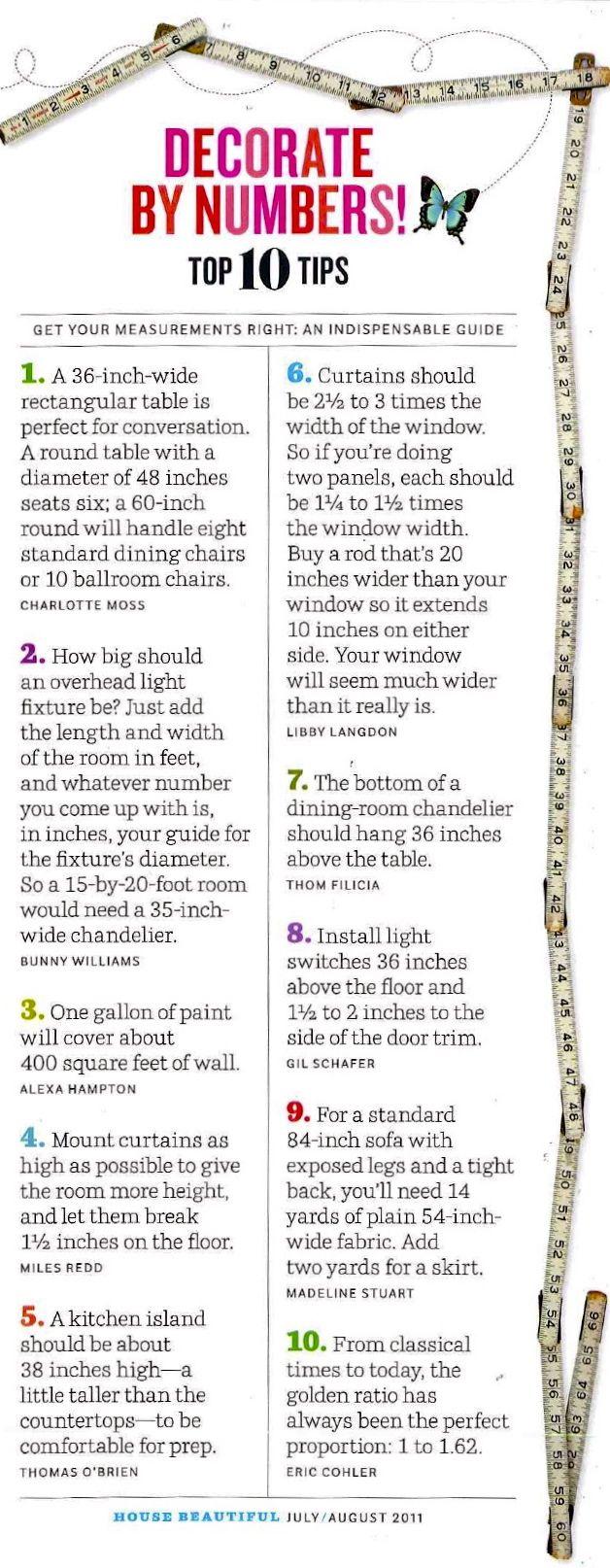House Beautiful Tips