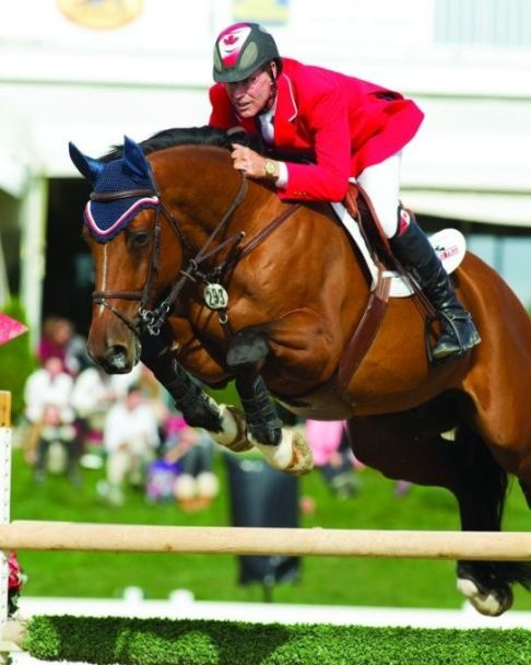 Captain Canada Ian Miller Show Jumping Phase Of Three Day
