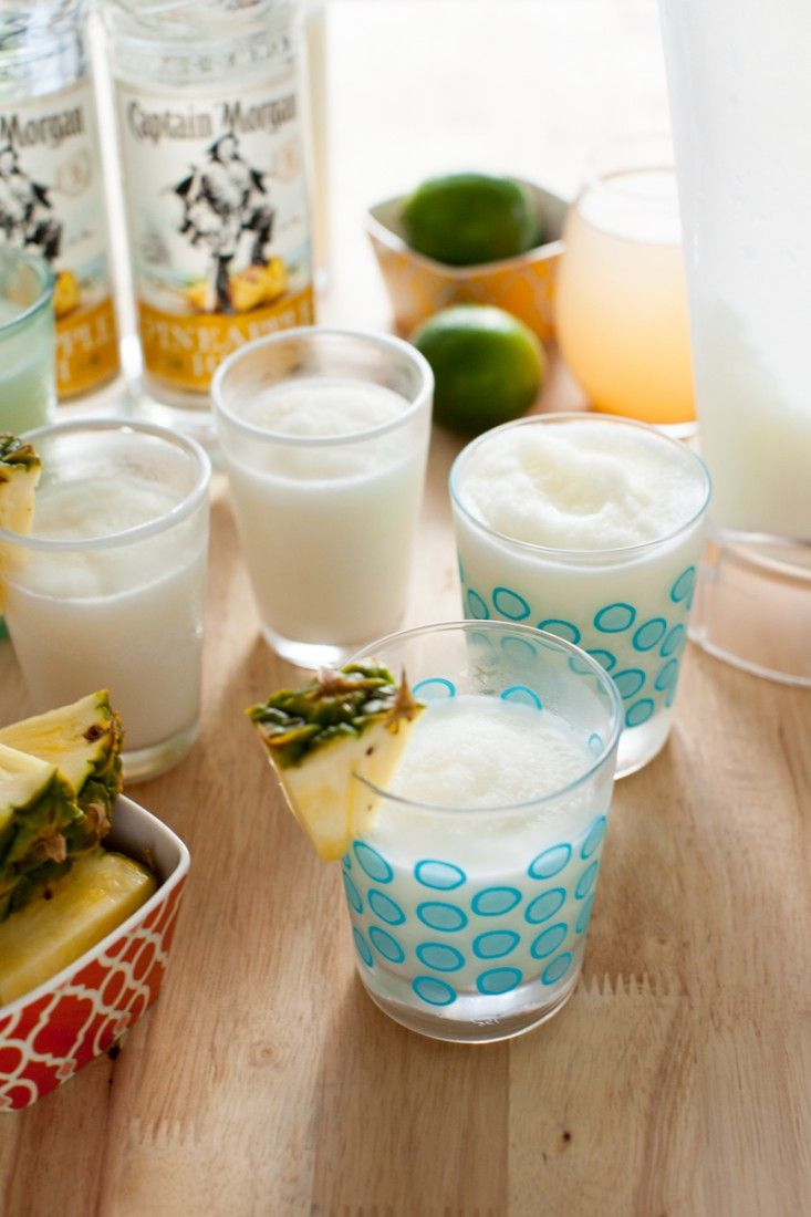 Try piña thunder drink using pineapple rum, lime juice, cream of coconut, coconut water, and pineapple juice