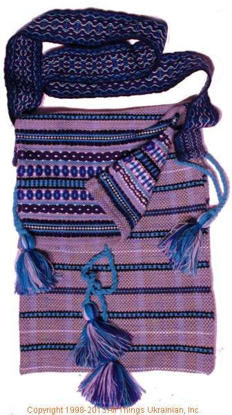 Handmade and hand woven Ukrainian over the shoulder handbag # HB13-001 Sold on  https://www.allthingsukrainian.com/Cloth/handbags/Thumb/Page1.php