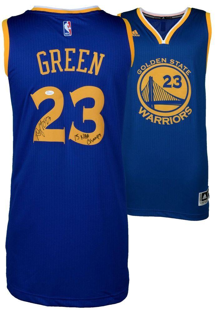 582a87b1d9b Draymond Green Warriors Signed Blue Swingman Jersey   15 NBA Champs Insc -  JSA  sportsmemorabilia  autograph  basketballjersey