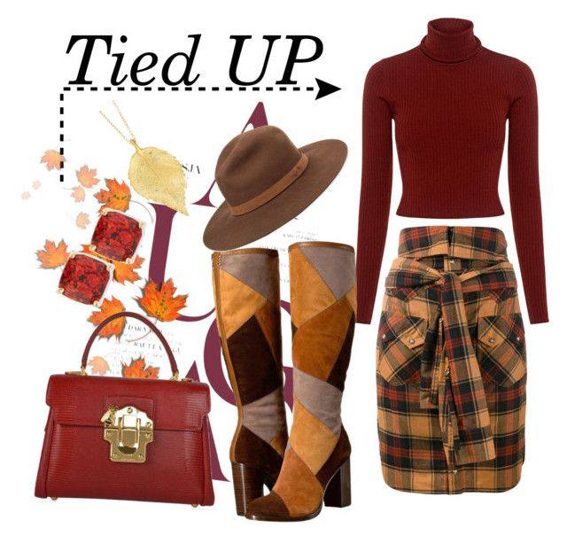 """""""Tied Up"""" by tfashionspeaks ❤ liked on Polyvore featuring Faith Connexion, A.L.C., Frye, Dolce&Gabbana, rag & bone, Kate Spade, Chupi, contest, womenfashion and fashionset"""