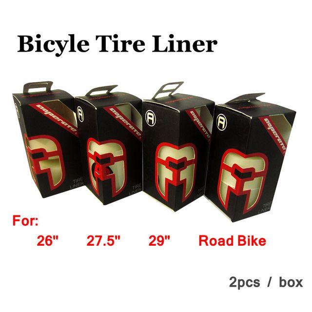 2016 Más Reciente de bicicletas neumáticos liner Hi-q MTB Bicicleta de Carretera Neumáticos Punción prueba 26 27.5 29 almohadilla de protección de neumáticos de montaña 26er 700C 2 unids