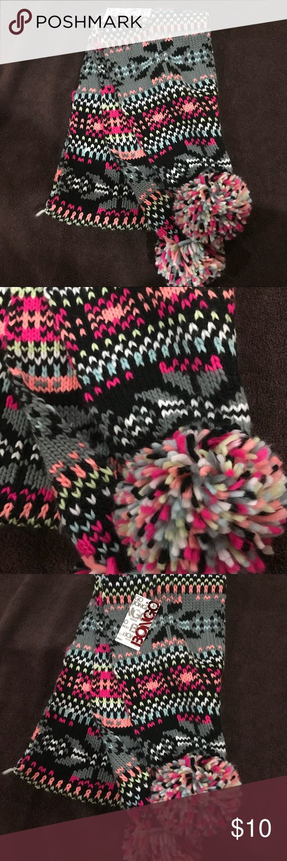 Bongo Multi-Color Scarf NWT BONGO Accessories Scarves & Wraps