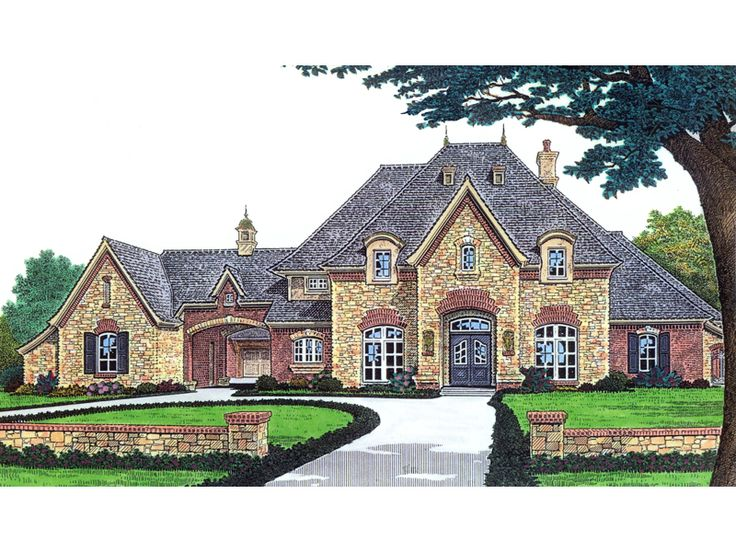 91 best images about brick and stone exterior on pinterest for Luxury european house plans
