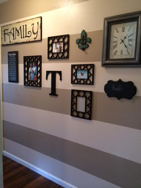 gallery wall before and after #DIY #decor