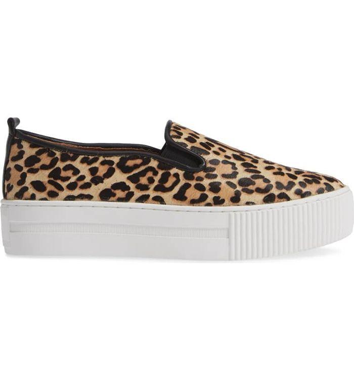 Leopard slip on sneakers, Platform slip