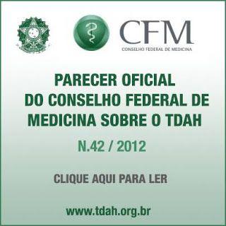 COGNITIVA TDAH: PARECER OFICIAL DO CONSELHO FEDERAL DE MEDICINA SO...