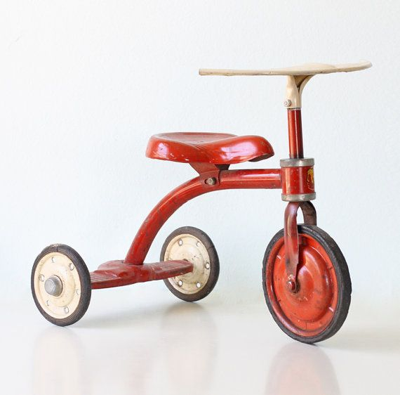 Vintage Red Tricycle Junior Toy Corp. by bellalulu on Etsy, $140.00