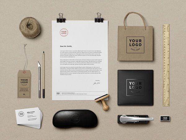 40 branding identity mock up vol 9 20 Free Branding and Identity Mockup Templates