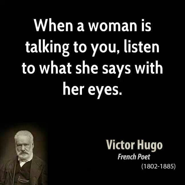 When a woman is talking