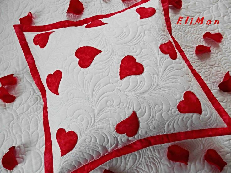 Valentine's day. Quilting pillow.